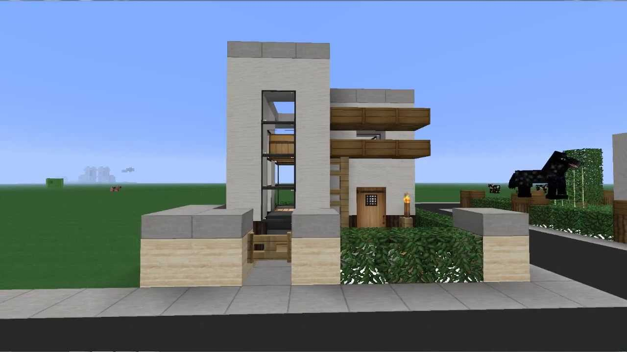 Minecraft i casa peque a moderna 6x6 youtube for Casas pequenas modernas