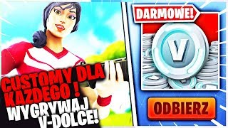 CUSTOMY DLA KAZDEGO * RESTART V-DOLCOW ! * W FORTNITE | hajTv