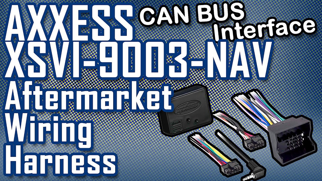 Vw Touareg Radio Wiring Diagram Electrical Diagrams Aftermarket Harness Axxess Xsvi 9003 Nav Interface Youtube