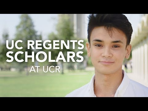 UC Regents Scholars at UCR