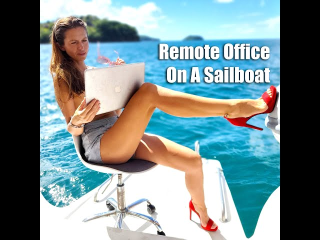 Remote office on a yacht! #SHORTS