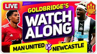 MANCHESTER UNITED vs NEWCASTLE With Mark GOLDBRIDGE LIVE