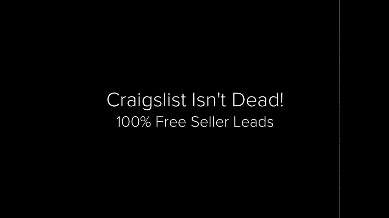 How to Generate Free Seller Leads with Craigslist