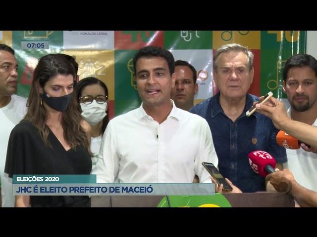 Eleições 2020: JHC é eleito prefeito de Maceió