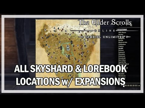 All Skyshard & Lorebook Locations 2016 - The Elder Scrolls Online (PC Xbox One PS4)