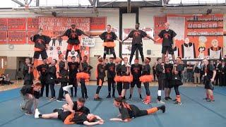 Stoughton High Pep Rally 2015: Powderpuff Cheerleaders