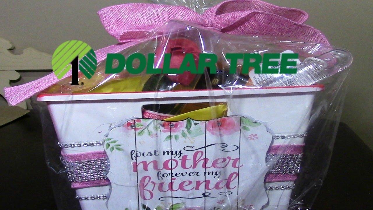 dollar tree diy mother 39 s day spa gift basket youtube. Black Bedroom Furniture Sets. Home Design Ideas
