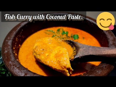 Fish Curry with Coconut Paste. 😋(சுவையான மீன் குழம்பு.)#South Indian Homely Kitchen.