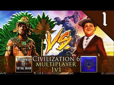 Legend vs Simpzy - Aztec vs Dutch - Civilization 6 #1