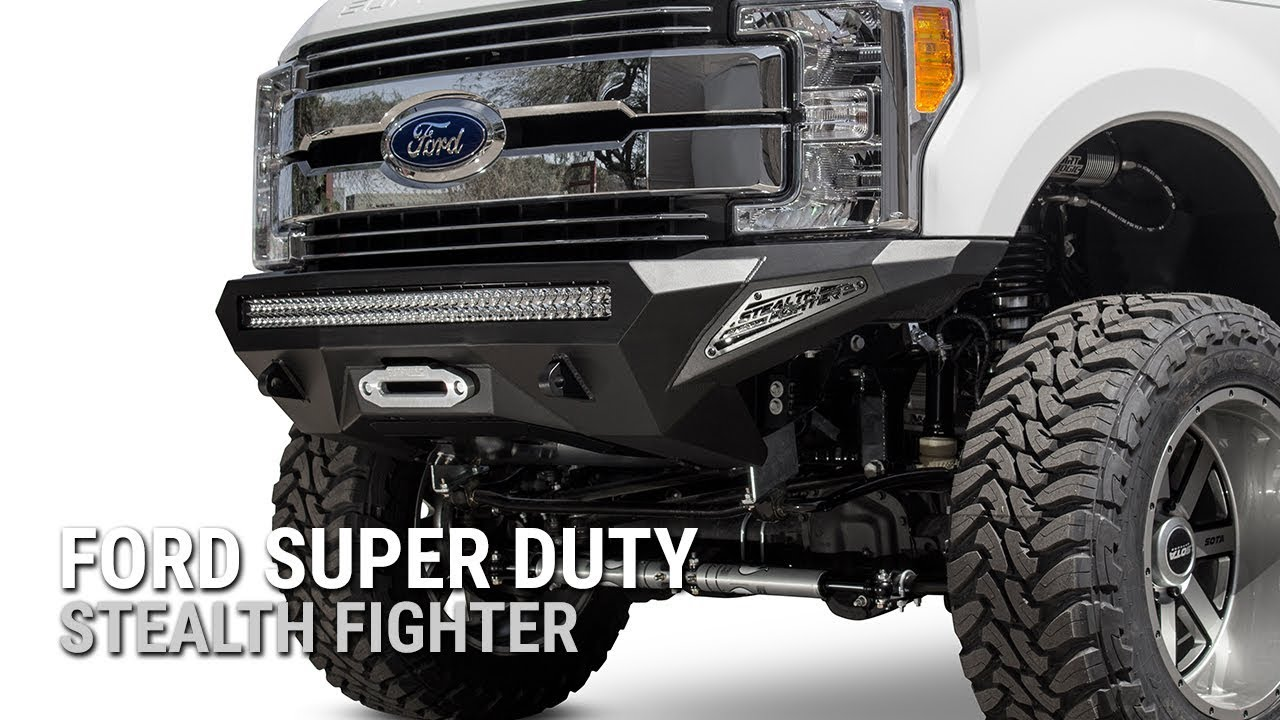 2018 Ford F350 >> NEW! 2017 Ford Super Duty Stealth Fighter Winch Front ...