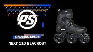 Powerslide Next 110 Blackout skates - Powerslide Speaking Specs