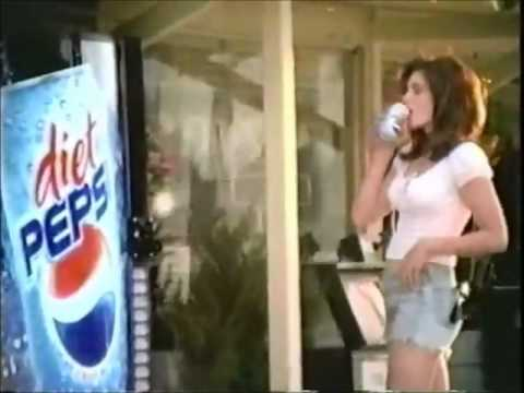 Austin Majors and Cindy Crawford in Diet Pepsi commercial