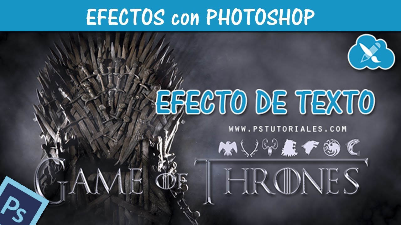 Texto Game Of Thrones Con Photoshop