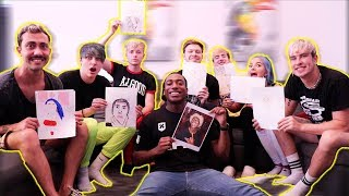 WE TRIED MAKING FAN ART OF OURSELVES w/ Sam, Colby, Jake, Reggie, Kat, Mike & Aryia