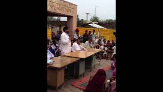 Ramlal Jat- MLA Bhilwara - addressing people of KANDHA