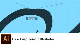 Fix a Cusp Point in Illustrator | InkScribe