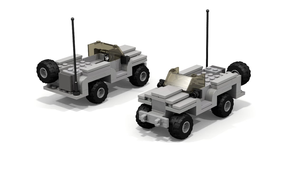 Lego Military Willys 4x4 Car Instructions Youtube