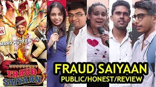 Fraud Saiyaan I PUBLIC REVIEW I HONEST REVIEW I Arshad Warsi I Saurabh Shukla