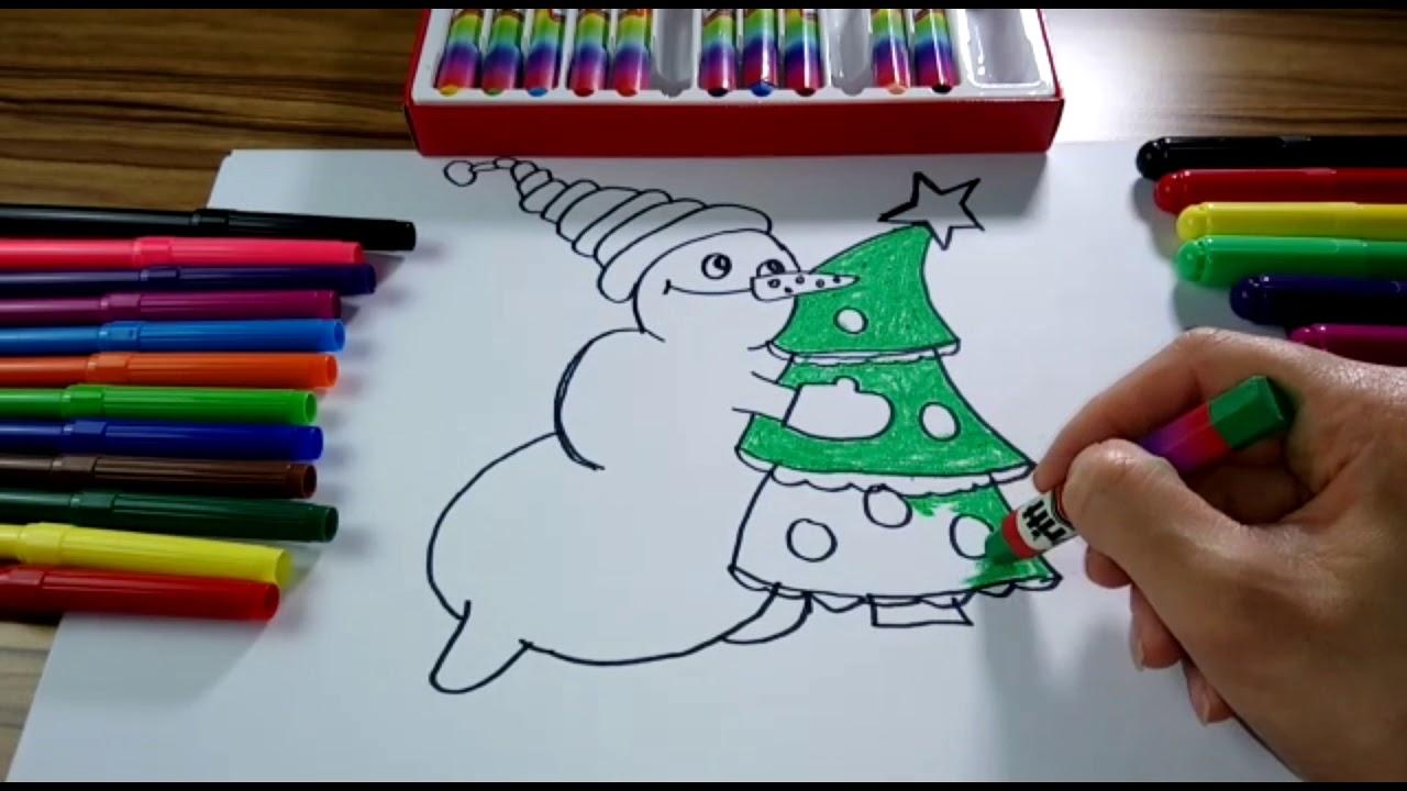 Yılbaşı Ağacı Nasıl çizilir çocuklar Için Boyama Sayfaları How