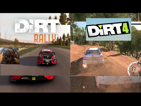 dirt 4 vs dirt rally first dirt 4 gameplay side by side youtube. Black Bedroom Furniture Sets. Home Design Ideas
