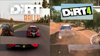 Dirt 4 VS Dirt Rally FIRST Dirt 4 Gameplay Side by Side!!