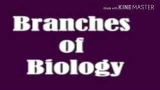Branches of Biology/જીવવિજ્ઞાન ની શાખાઓ
