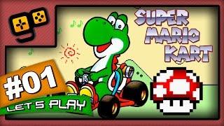 Let's Play: Super Mario Kart - Parte 1 - Mushroom Cup