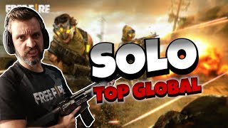 FREE FIRE AO VIVO MESTRE SOLO TOP GLOBAL RUMO DESAFIANTE (LIVE)