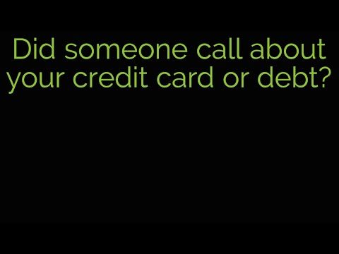 Credit card services scam