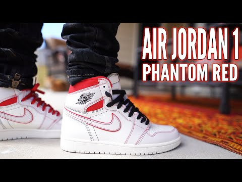 AIR JORDAN 1 PHANTOM RED REVIEW AND ON FOOT !!!