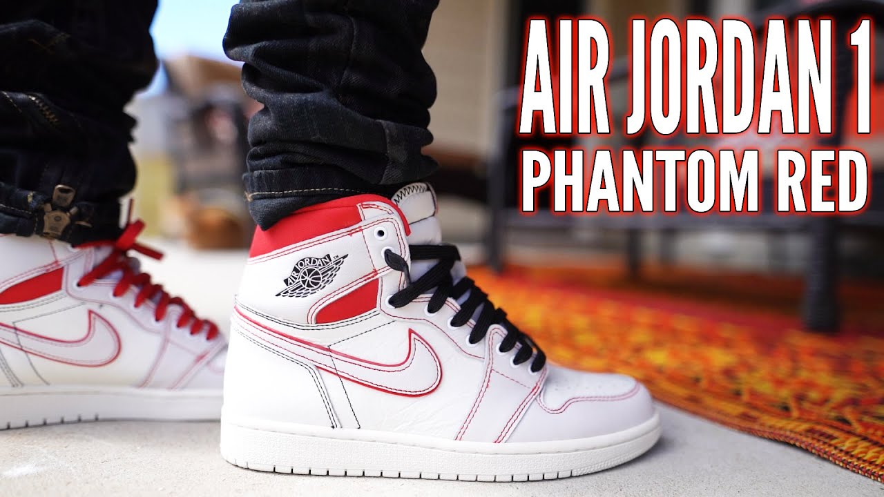 c6820dc2b7ae AIR JORDAN 1 PHANTOM RED REVIEW AND ON FOOT !!! - YouTube