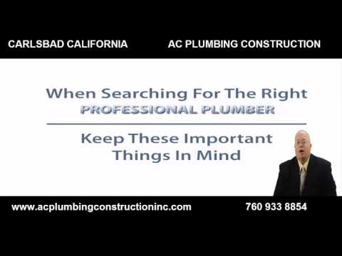 AC  Plumbing  Construction Carlsbad plumber For water heaters, Drains and Plumbing