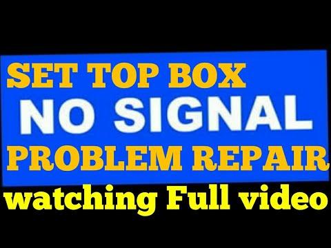 DISH TV SET TOP BOX NO SIGNAL REPAIR TIPS