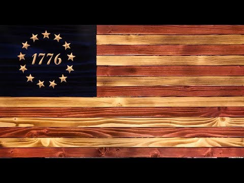 DIY - Rustic American Wooden Flag Build