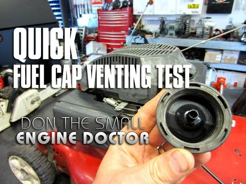 Lawnmower Fuel Cap Venting Test