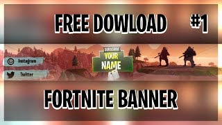 FREE FORTNITE BANNER!!! (PAINT.NET)