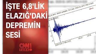 Elazığ'da 6 8'lik depremin yer altındaki sesi ortaya çıktı