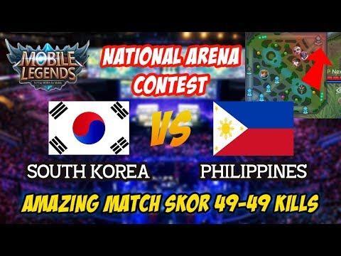 Super Amazing Match 49-49 South Korea vs philippines National Arena Contest