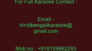 Bhorer Hawai Pathiye Dilam - Karaoke - Kumar Sanu - Sonar Meye (1994)