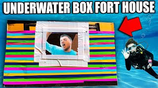 100 LAYERS Of Rainbow Duct Tape UNDERWATER Box Fort CHALLENGE!