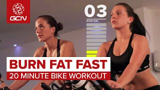 Burn Fat Fast: 20 Minute Bike Workout(Indoor cycle training is one of the best ways to lose weight quickly and train for cycle events. Subscribe to GCN: http://gcn.eu/SubscribeToGCN Get exclusive ..., 2013-03-11T17:14:19.000Z)