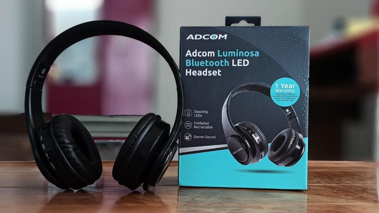 Best Bluetooth Headphone Under 1500 Adcom Luminosa Bluetooth Headset Unboxing Youtube