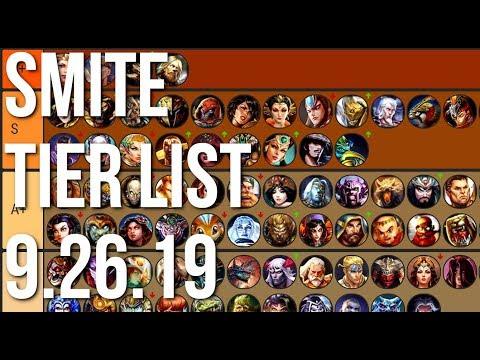 Smite God Tier List 2020.Smite Season 6 Tier List Update 9 26 19 Youtube