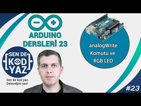 23- Arduino AnalogWrite Komutu Ve PWM Sinyali Ile RGB LED Kontrolü