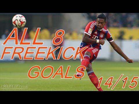 FC Bayern München ● All Freekick Goals 2014/2015 ● HD