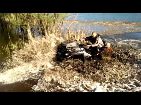 Полное погружение в воду квадроцикла CFMoto X8 с шноркелями и выносом. Тест.