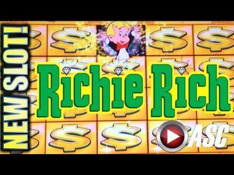 ★NEW SLOT! RICHIE RICH★ AIN'T LEAVING WITHOUT A BONUS!! Slot Machine Bonus (Everi)