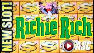 ★NEW SLOT! RICHIE RICH★ AIN'T LEAVING WITHOUT A BONUS!! Slot Machine Bonus (Everi)