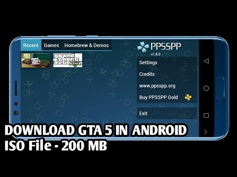 [200 MB] Highly compressed //Download Real GTA 5 in PSP emulator in  Android//IOS