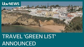 England's 'green list' countries for summer holidays revealed | ITV News
